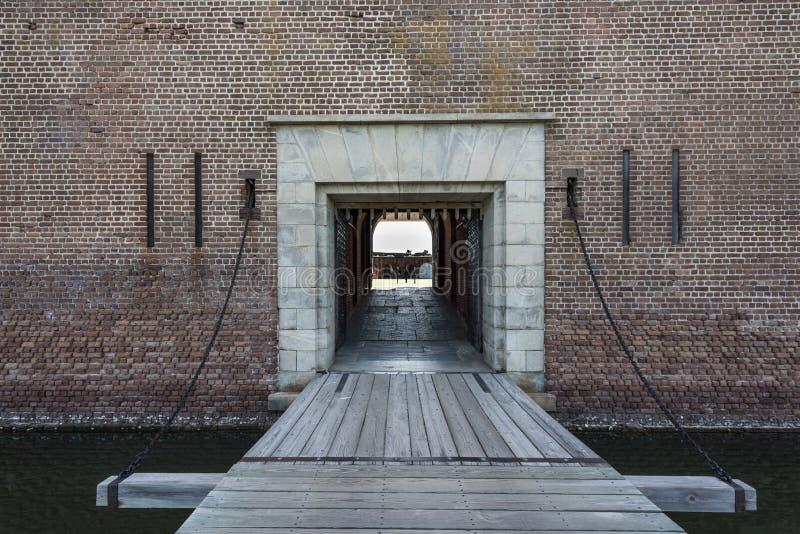 Draw Bridge at Fort Pulaski. Civil war monument stock image