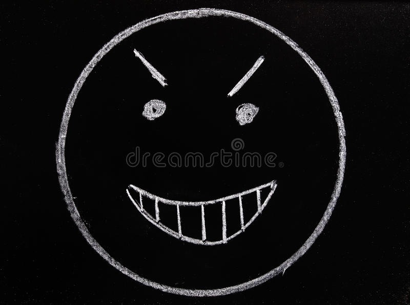 Draw evil face royalty free stock photos