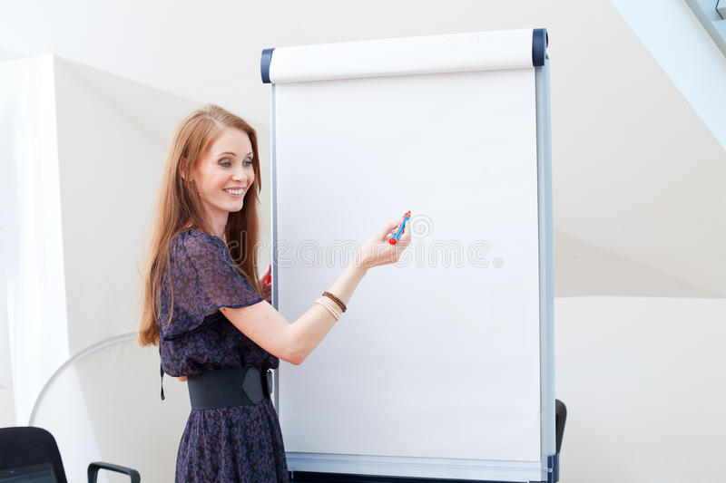 Draw on flipchart stock photos