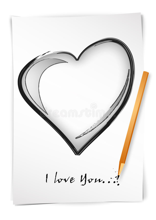 Download Draw i love you stock vector. Illustration of love, valentine - 4165861