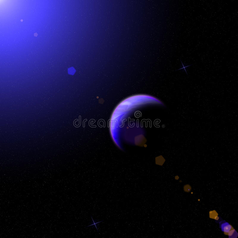 The cosmos, planets, stars royalty free stock photo