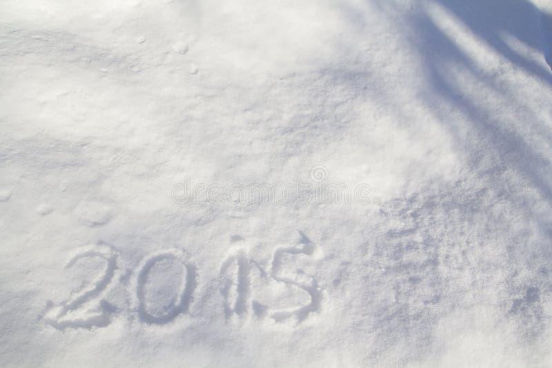 2015 2015 draw on snow. New year 2015 draw on snow stock photo