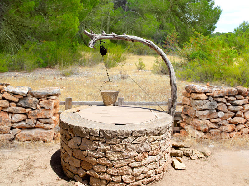 Download Draw Well Traditional Mediterranean Masonry Stock Image - Image of covered, device: 21749499