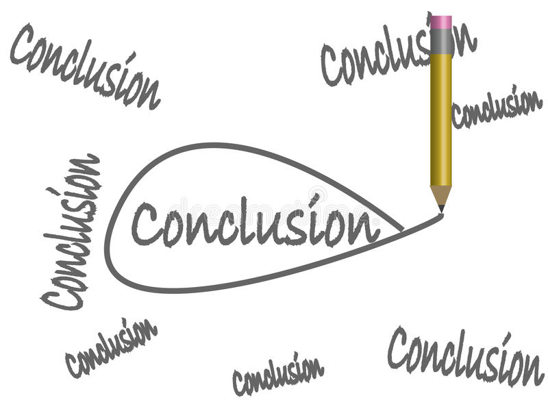 Draw Your Own Conclusions royalty free illustration