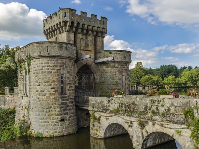 Drawbridge πύλες στοκ εικόνα