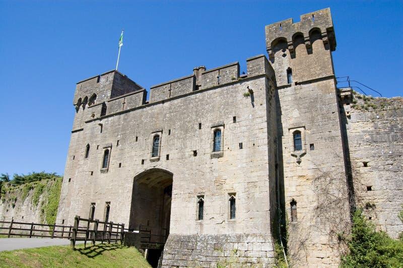 Drawbridge, castello di Caldicot immagine stock libera da diritti
