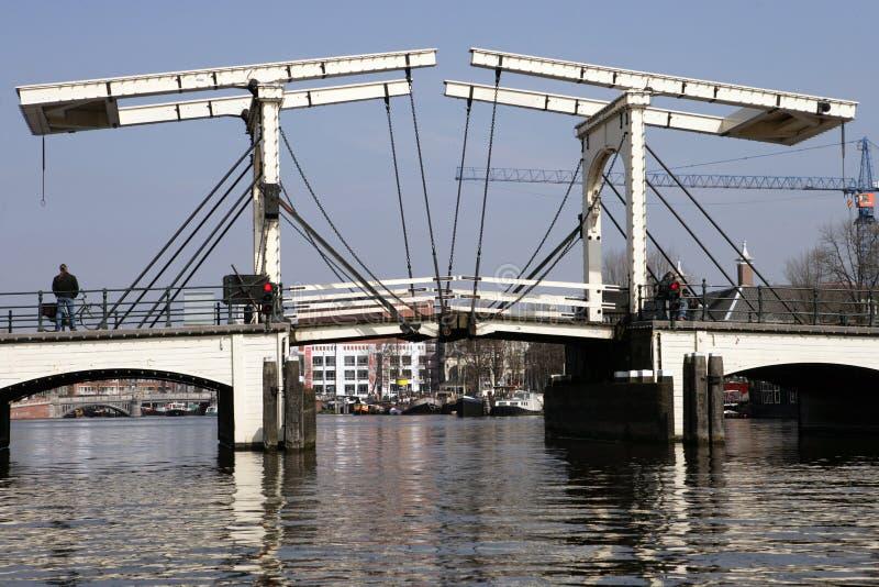 DrawBridge di Amsterdam fotografie stock libere da diritti
