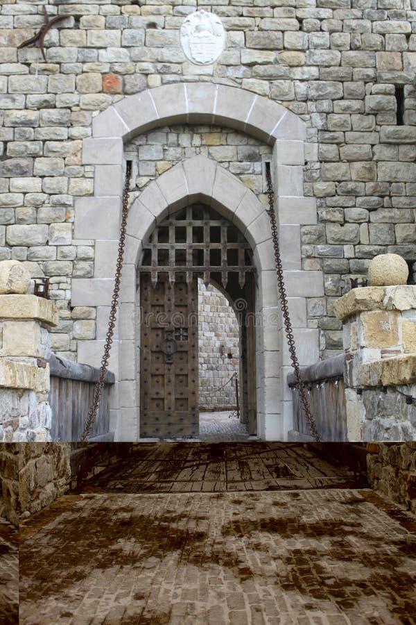 Drawbridge medioevale del castello fotografie stock