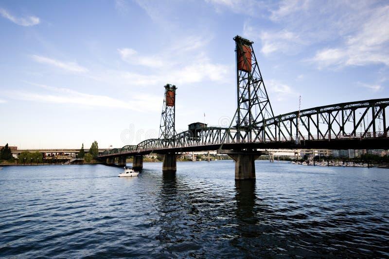 drawbridge Portland fotografia stock