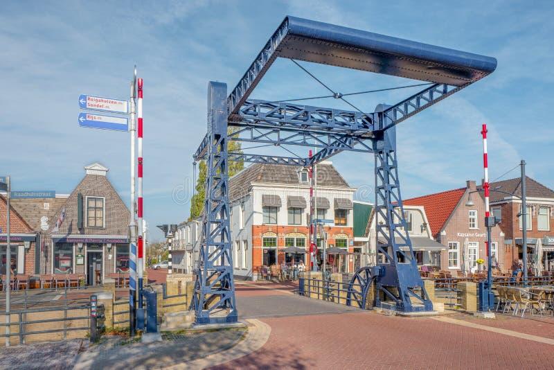 Drawbridge w centrum miedza w holandiach zdjęcia stock