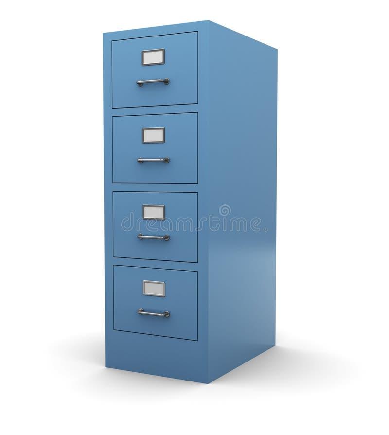 Drawer. 3d illustration of drawer cabinet over white background stock illustration
