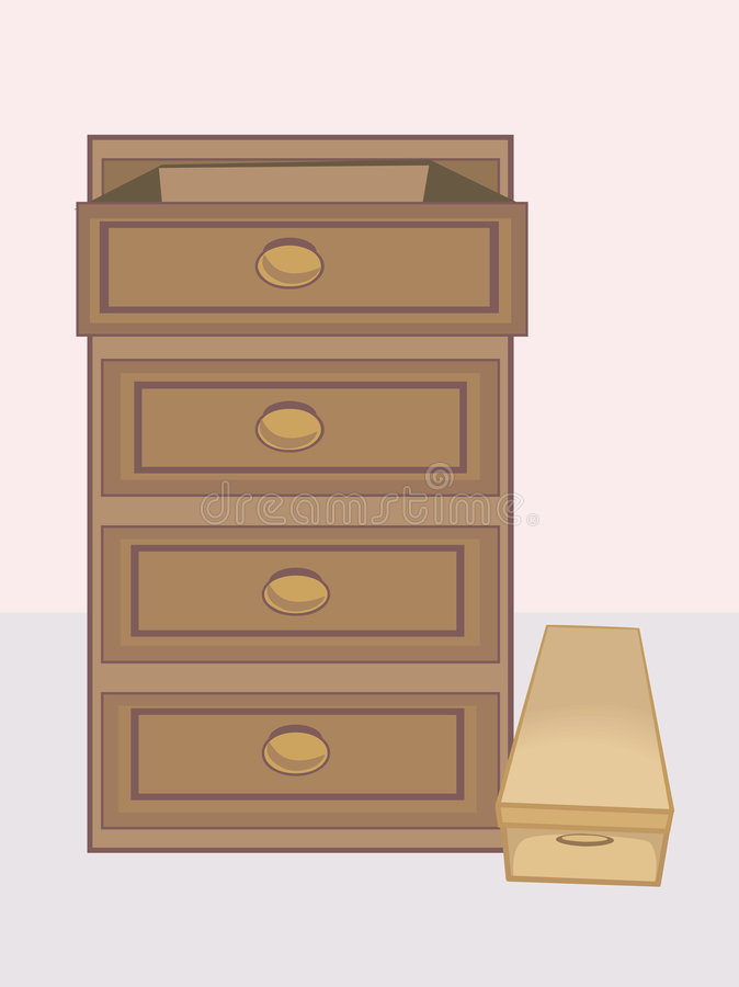 Drawer stock illustration