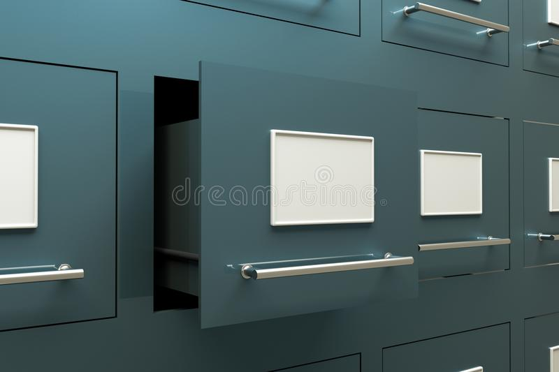 Drawer cabinet. A drawer cabinets as a background royalty free illustration