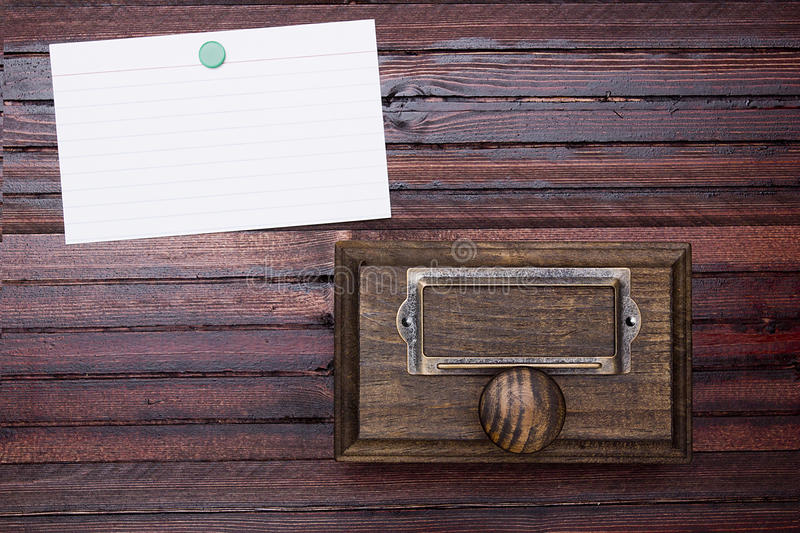 Drawer cabinet archive royalty free stock photos