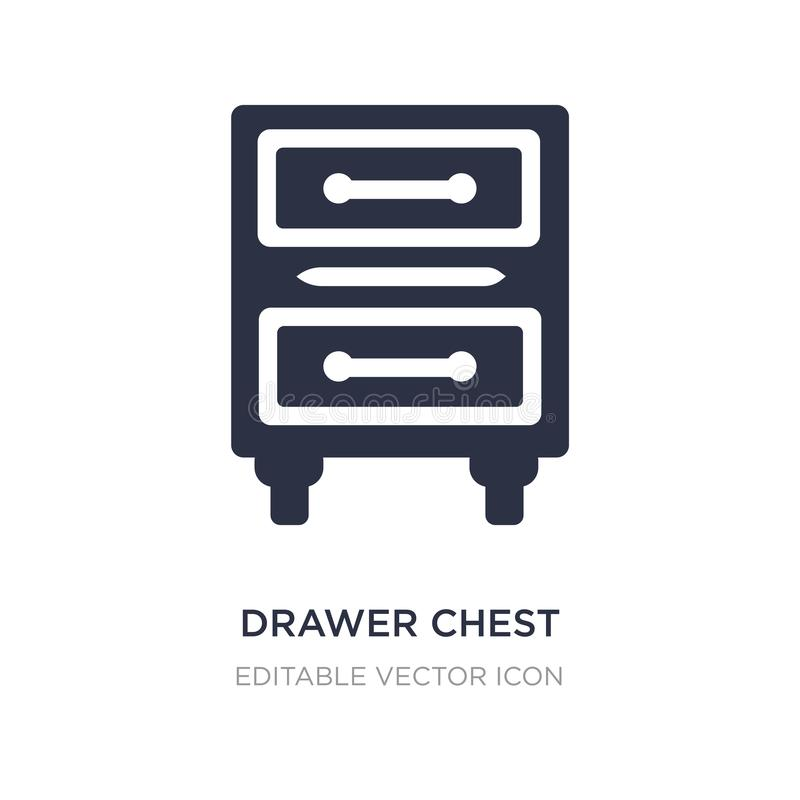 drawer chest icon on white background. Simple element illustration from Furniture and household concept vector illustration