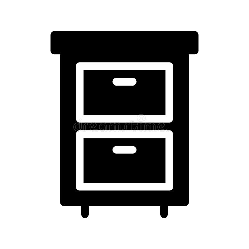 Drawer glyph flat vector icon. Drawer vector icon. Elements for mobile concept and web apps. Thin line icons for website design and development, app development stock illustration