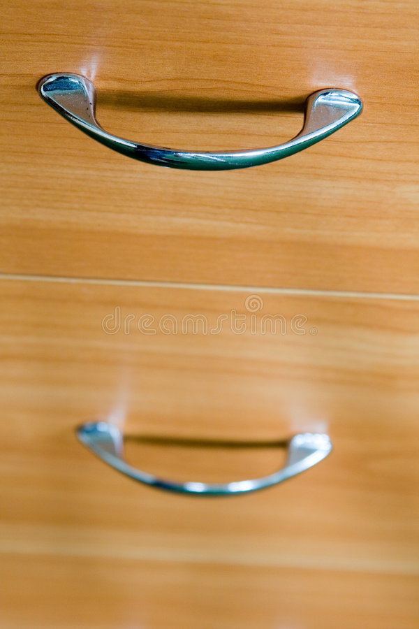 Drawer handles royalty free stock photography