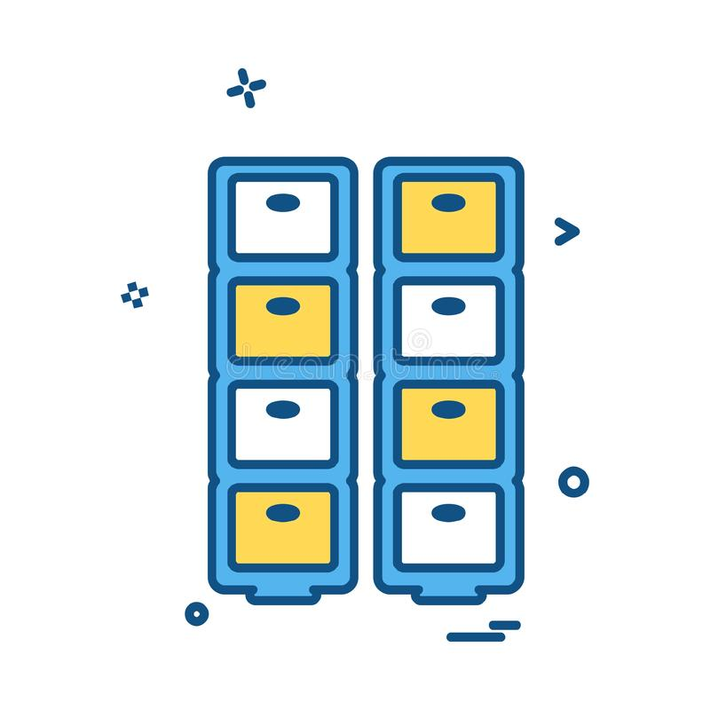 Drawer icon design vector. This Vector EPS 10 illustration is best for print media, web design, application design user interface and infographics with well royalty free illustration