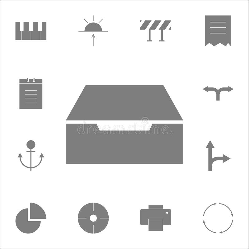 Drawer icon. Detailed set of minimalistic icons. Premium quality graphic design sign. One of the collection icons for websites, we. B design, mobile app on white royalty free illustration