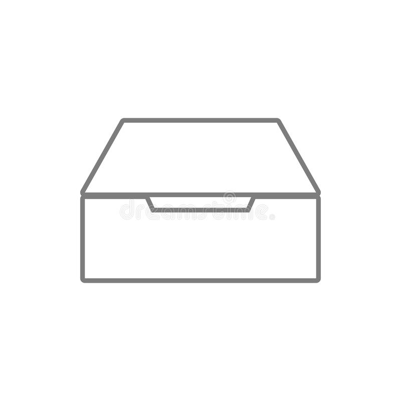 Drawer icon. Element of cyber security for mobile concept and web apps icon. Thin line icon for website design and development,. App development on white stock illustration