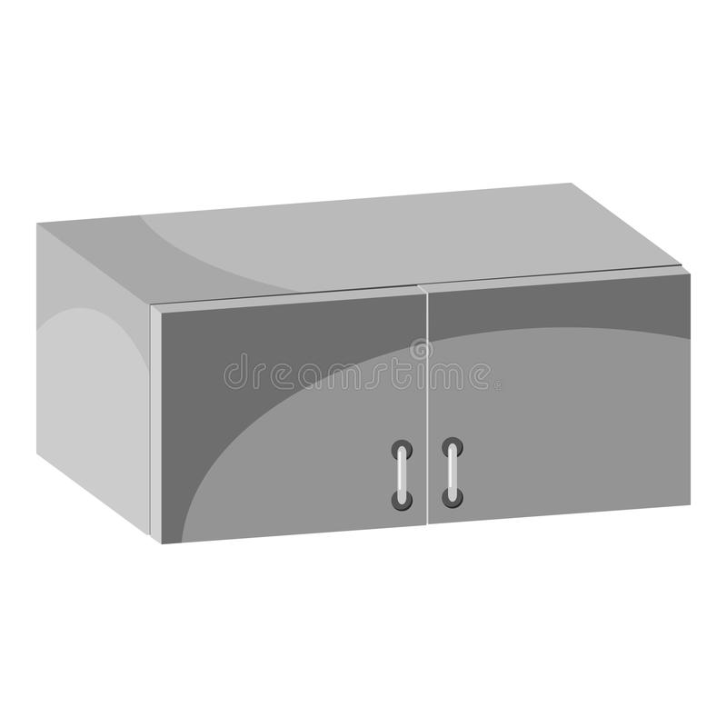 Drawer icon, gray monochrome style. Drawer icon. Gray monochrome illustration of drawer vector icon for web design royalty free illustration