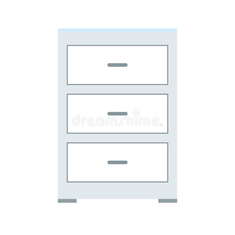 Drawer icon image. Drawer icon over white background. colorful desing. illustration royalty free illustration