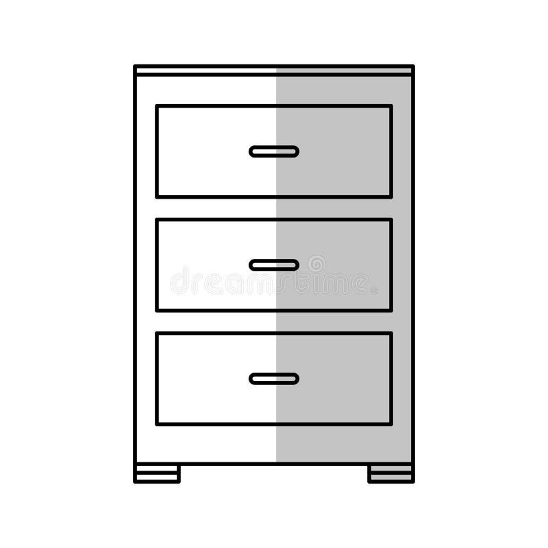 Drawer icon image. Drawer icon over white background. illustration royalty free illustration