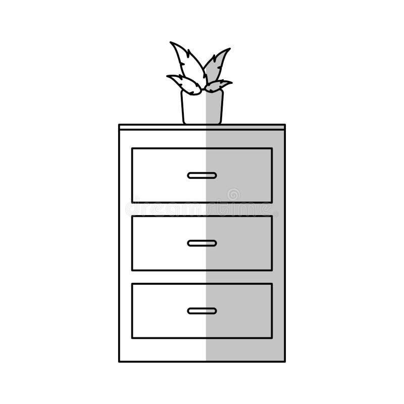 Drawer icon image. Drawer icon over white background. illustration vector illustration