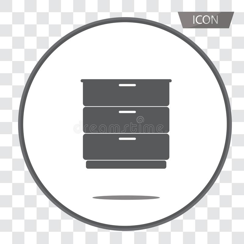 Drawer icon vector isolated on background. Drawer icon vector isolated on white background vector illustration