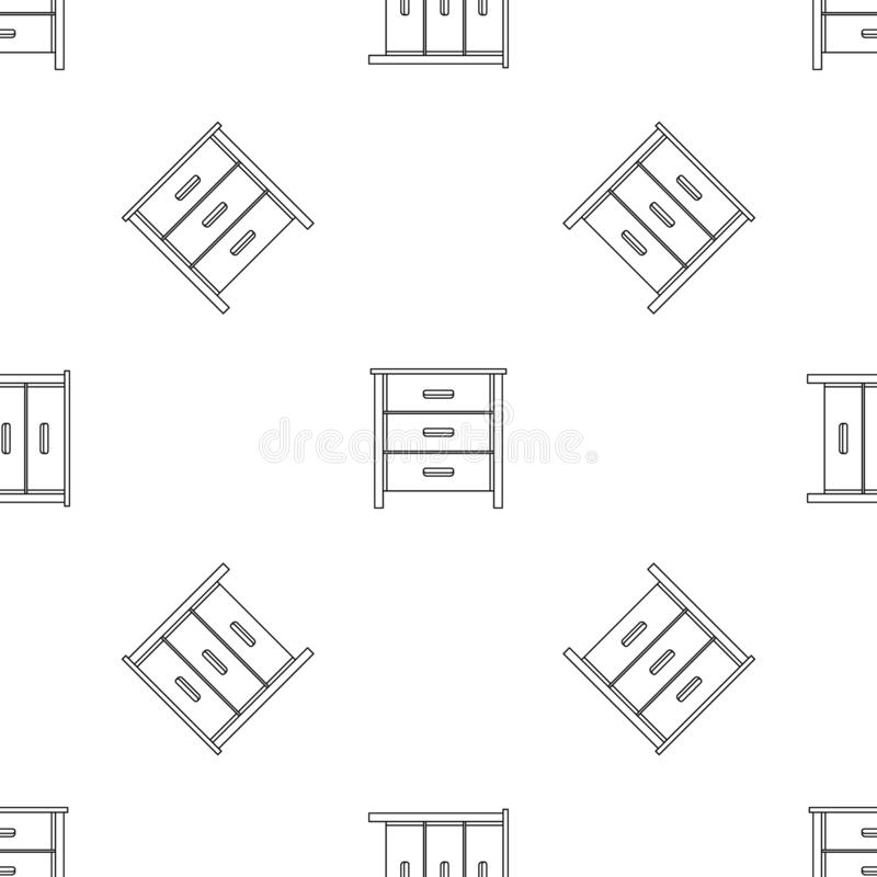 Drawer pattern seamless vector. Repeat geometric for any web design royalty free illustration