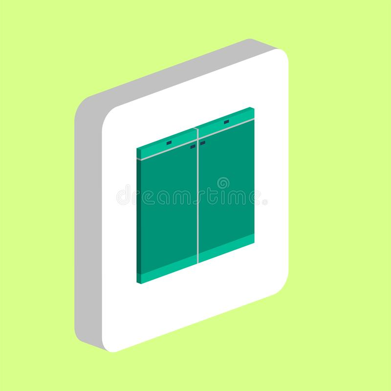 Drawer computer symbol. Drawer Simple vector icon. Illustration symbol design template for web mobile UI element. Perfect color isometric pictogram on 3d white stock illustration