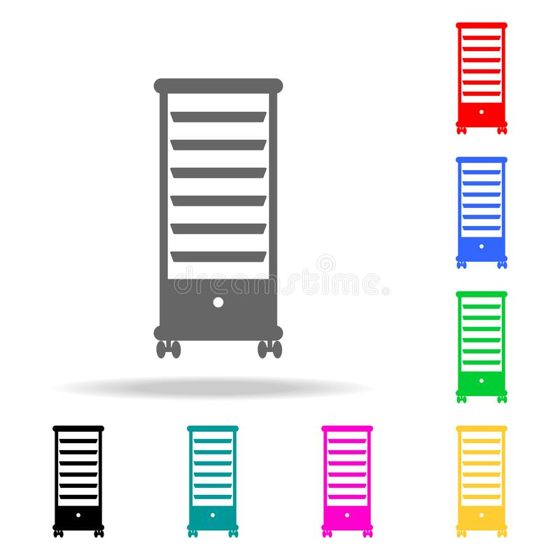 Drawer Storage Trolley Hairdresser Shelf icon. Barber Element multi colored icons for mobile concept and web. icon for website des. Ign and development, app vector illustration