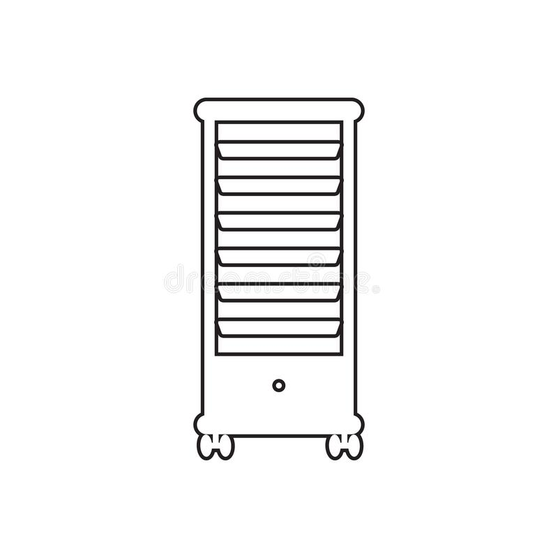 Drawer Storage Trolley Hairdresser Shelf icon. Element of Barber for mobile concept and web apps icon. Outline, thin line icon for. Website design and stock illustration