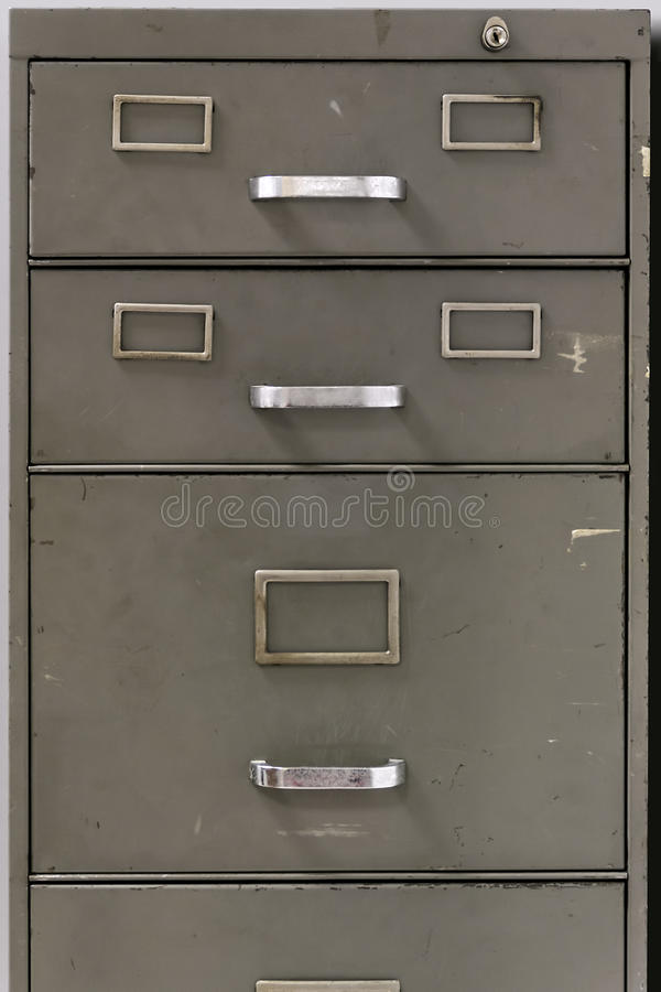download drawers of an old metal filing cabinet stock photo image