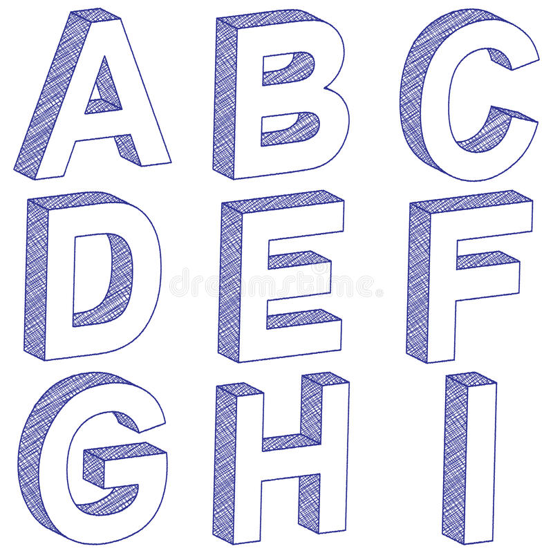 drawings of letters drawing 3d letter a i stock vector illustration of object 21045