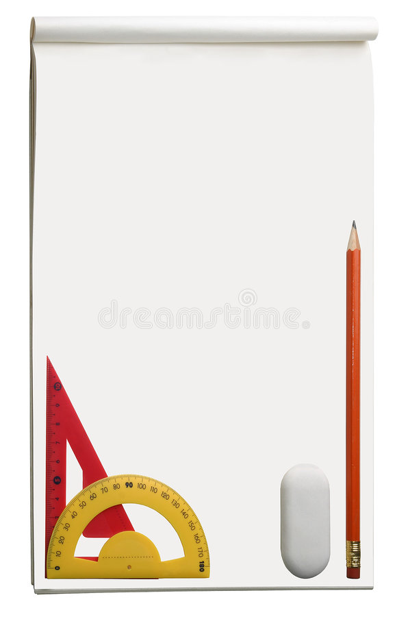 Download Drawing Album, With Different Tools And Free Space Stock Photo - Image: 1251848