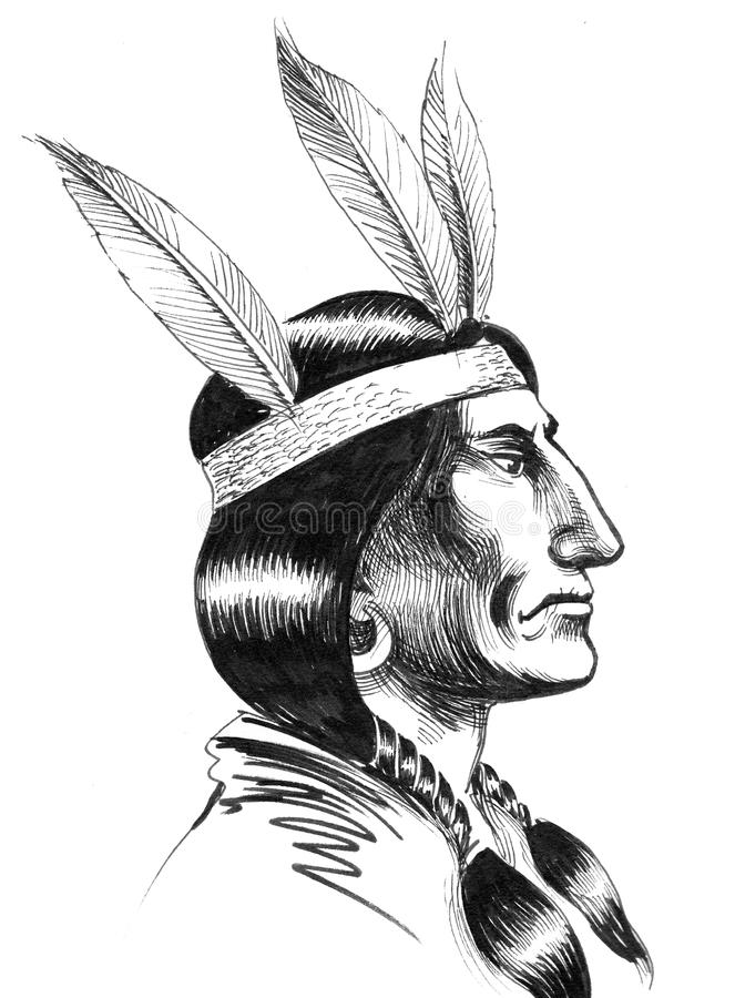 American Native royalty free illustration