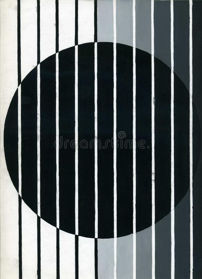 Free Drawing An Abstract Composition Of Geometric Shapes. Monochrome Color Performance. Royalty Free Stock Photo - 118177895