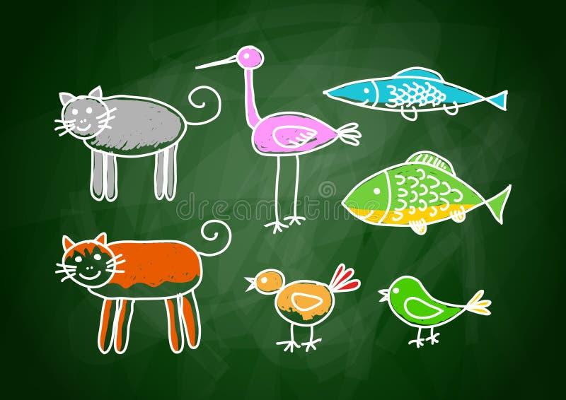 Drawing of animals vector illustration