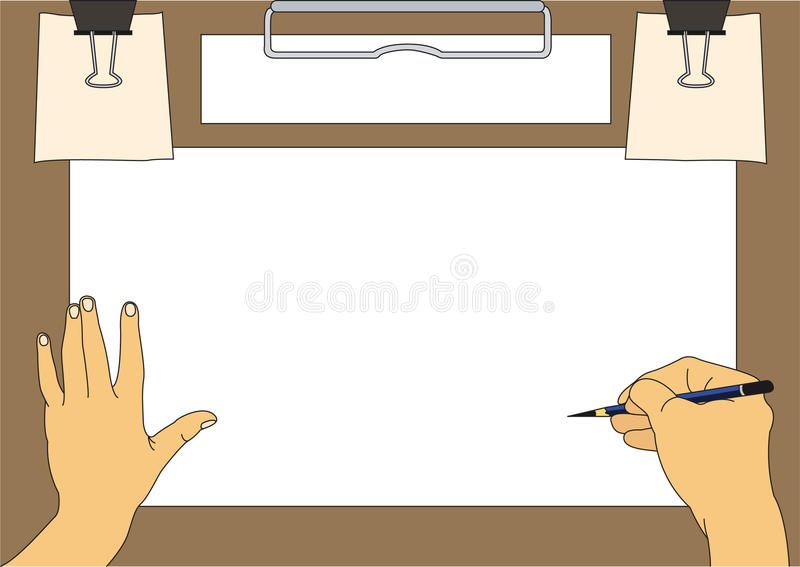 Drawing background. For information or picture vector illustration
