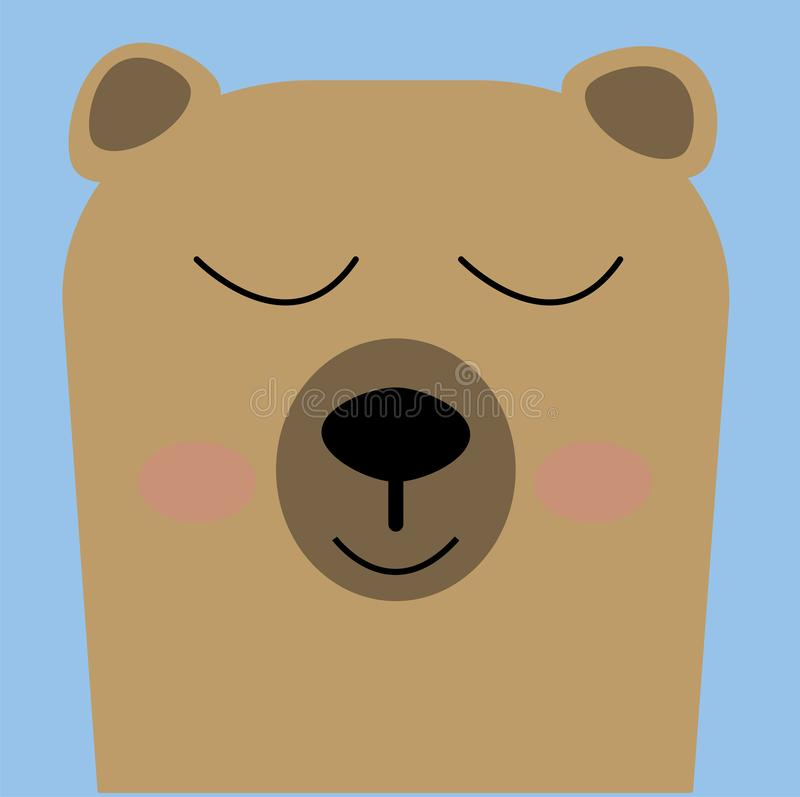 Brown bear is a solitary animal, except during the salmon spawning season, when a huge number of bears gather in streams and coast royalty free illustration