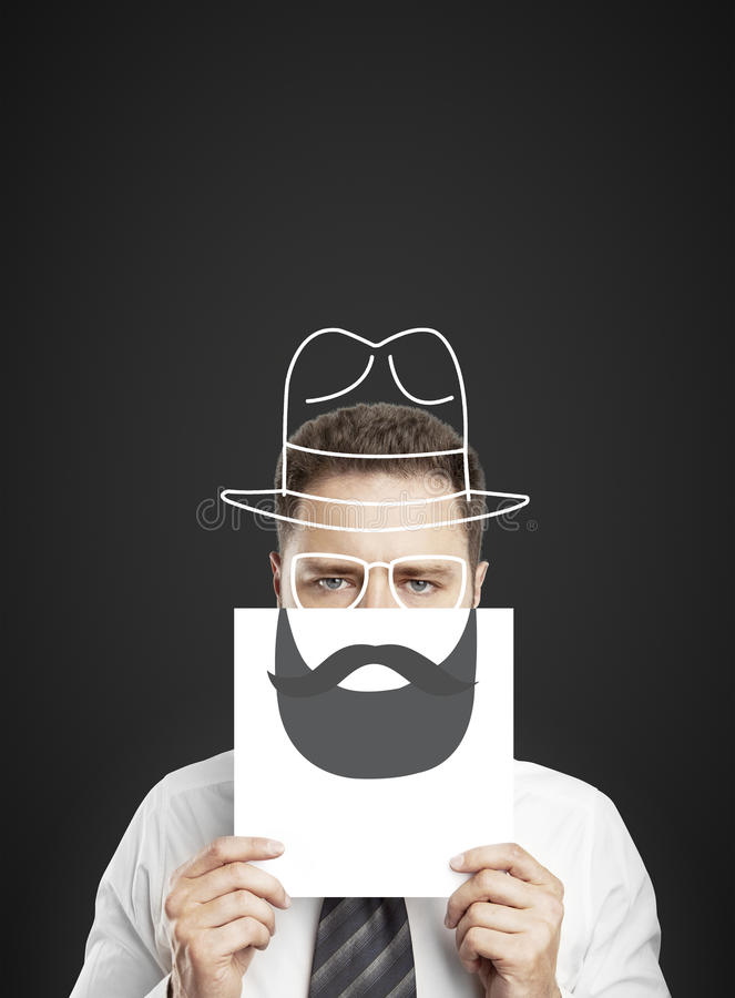 Download Drawing beard and hat stock photo. Image of lips, classic - 32552902