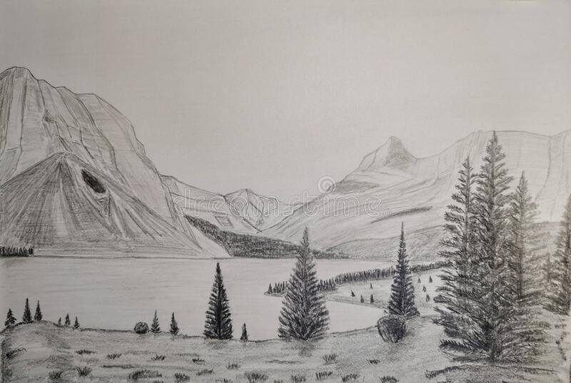 1 503 Landscape Pencil Drawing Photos Free Royalty Free Stock Photos From Dreamstime