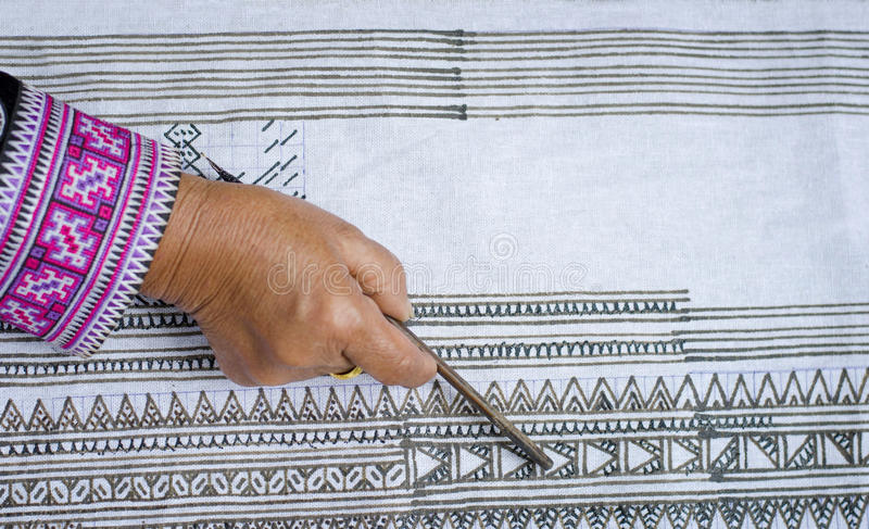 Drawing on the fabric