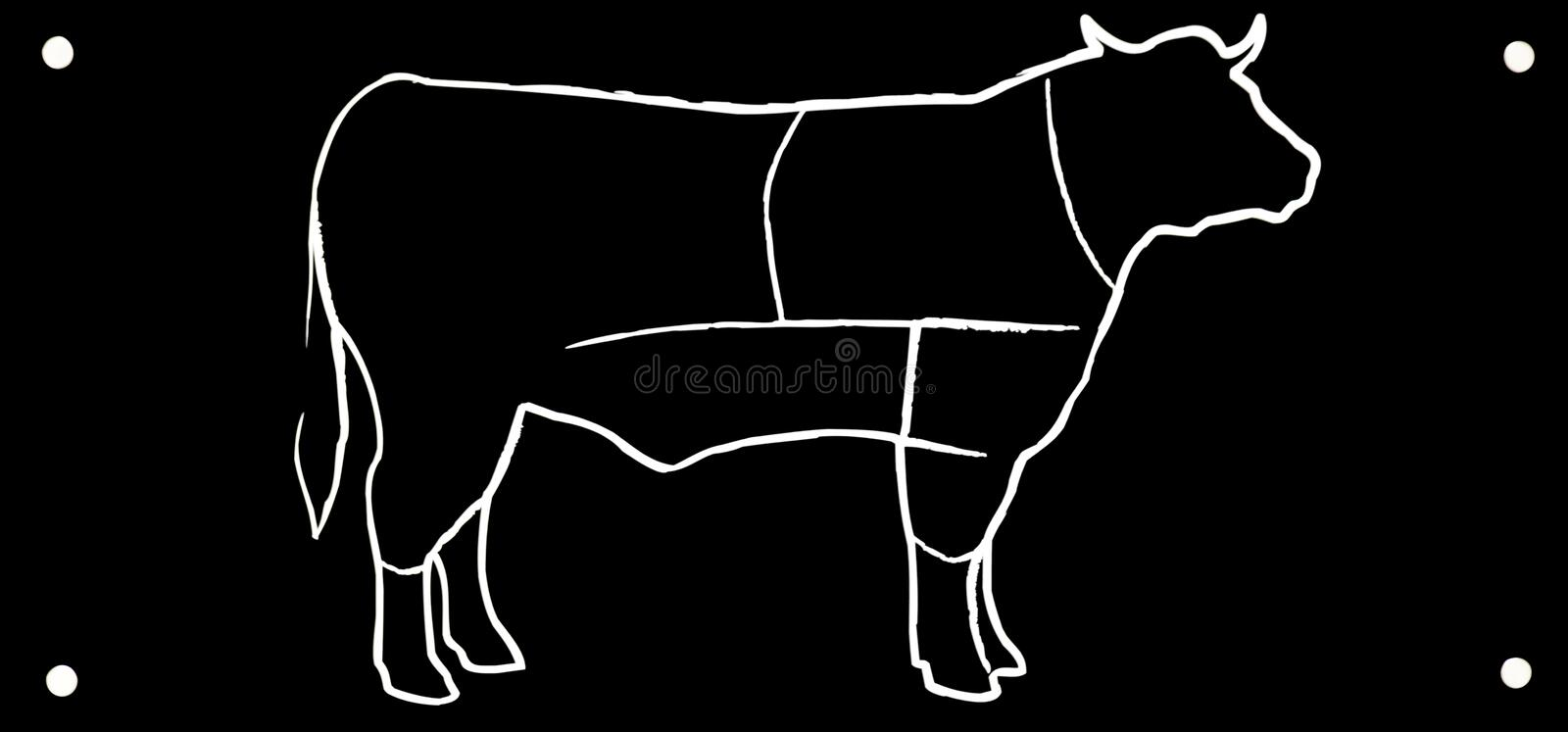 Download Drawing black bull stock photo. Image of draw, illustration - 33117752