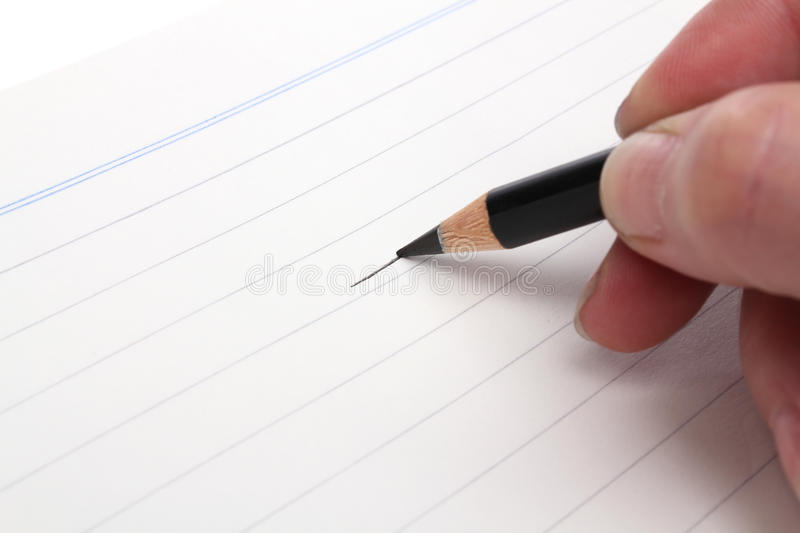 Drawing With A Black Pencil Stock Photo
