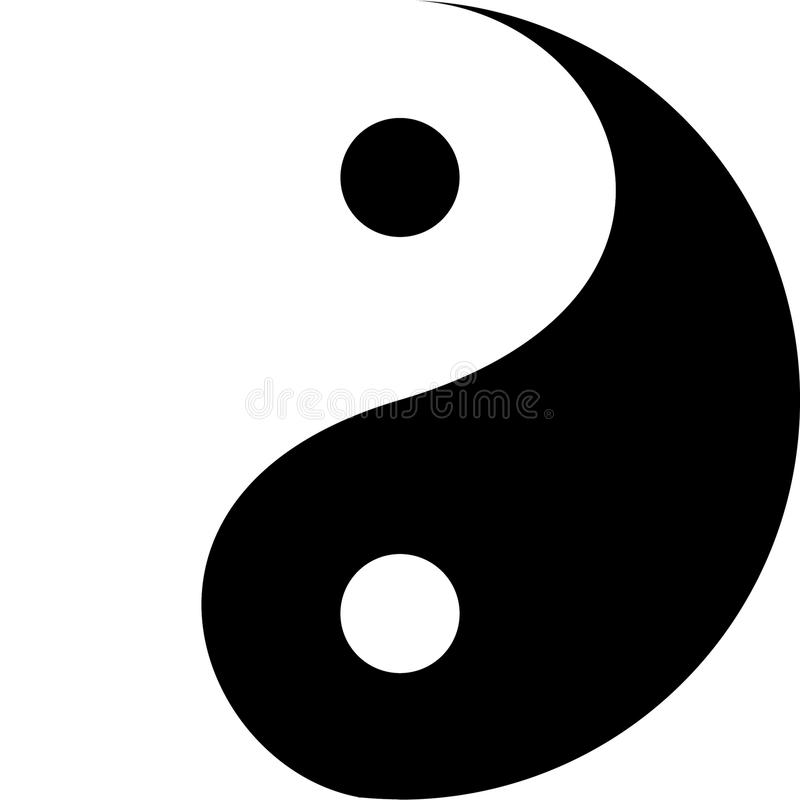 yin yang decorative symbol stock vector illustration of rh dreamstime com yin yang vector free eps