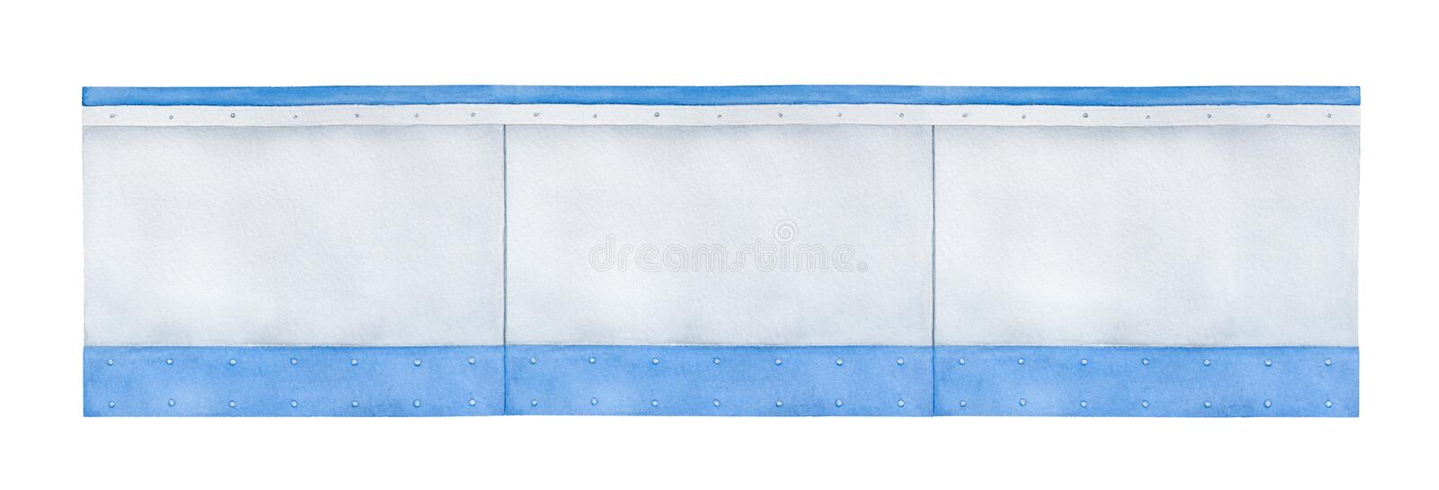 Drawing of blank arena boards. stock image