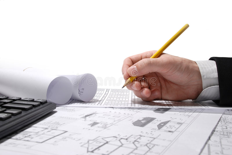 Drawing Blueprint stock image