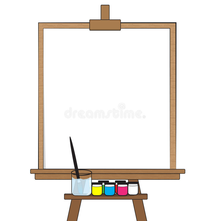 Drawing board. And Equipment on white background royalty free illustration